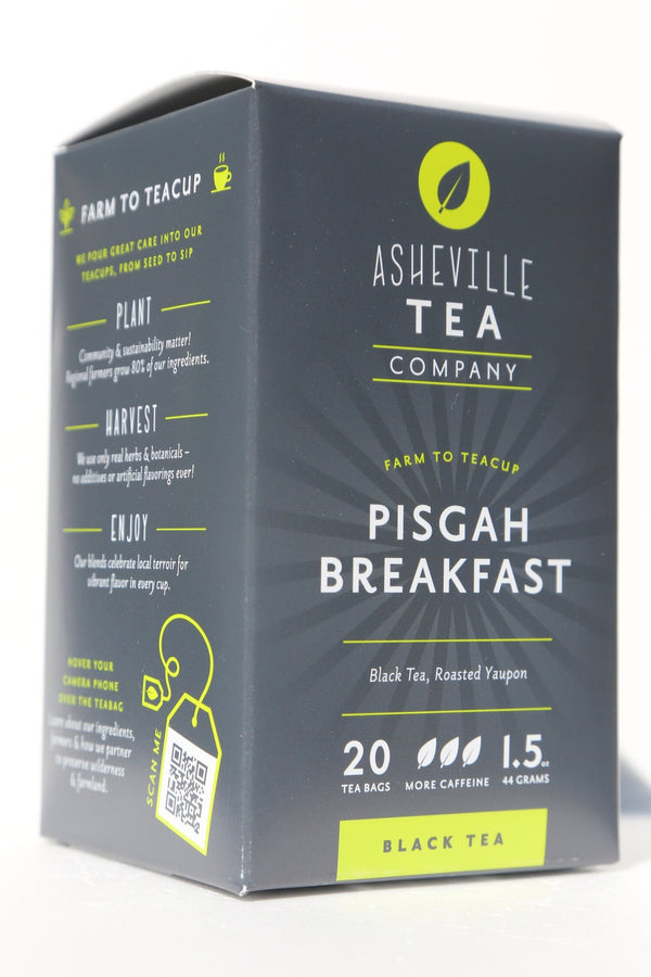 Asheville Tea Pisgah Breakfast Tea Box, 20 tea bags