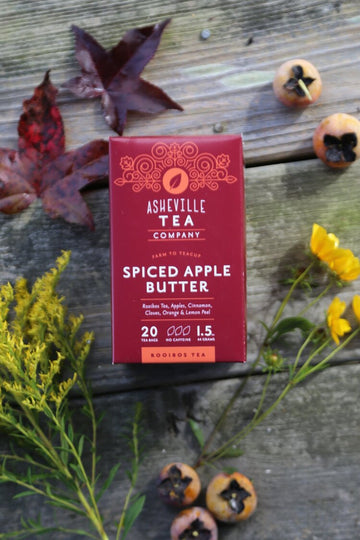Asheville Tea Spiced Apple Butter Tea Box, 20 tea bags