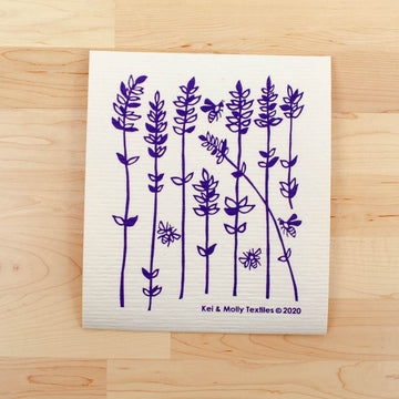 Sponge Cloth Large: Lavender Sprigs