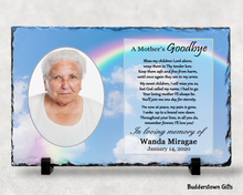 Load image into Gallery viewer, A Mothers Goodbye / Memorial Stone Slate - Free Shipping