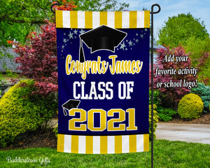 CLASS OF 2021 GARDEN FLAG - Choose Your Colors - Free Shipping