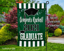 Load image into Gallery viewer, CLASS OF 2021 GARDEN FLAG - Choose Your Colors - Free Shipping