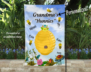 Grandma's Hunnies Garden Flag- 12x18 - Garden Flag - Single Sided - Free Shipping!