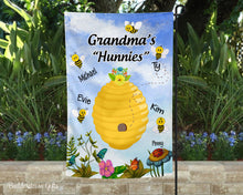 Load image into Gallery viewer, Grandma's Hunnies Garden Flag- 12x18 - Garden Flag - Single Sided - Free Shipping!
