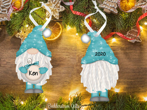 PG Holiday / Christmas GNOME Ornaments - with  or without Braids - Free Shipping