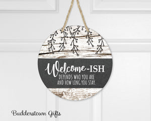 Welcome-ish Door Hanger