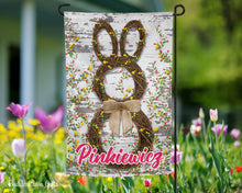 Load image into Gallery viewer, Easter Flag - Grapevine Bunny- 12x18 - Garden Flag - Single Sided - Free Shipping