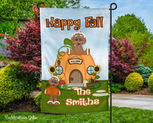 Load image into Gallery viewer, Gingy & Pumpkins - 12x18 - Garden Flag - Single Sided - Free Shipping!