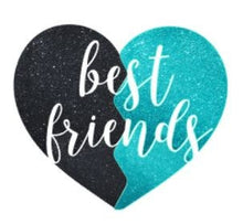 Load image into Gallery viewer, Best Friends Glitter Half heart, 3 sizes, Coffee, Mug