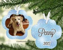 Load image into Gallery viewer, Paw Print Inlay Ornament - 2020