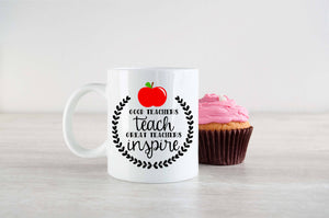 Teachers Inspire Mug -3 sizes