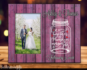 Mason Jar Wedding Frame - 8x10