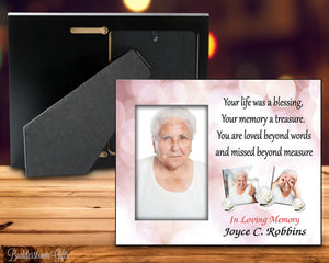 Your life was a blessing - 8x10 Frame - Pink Bokeh