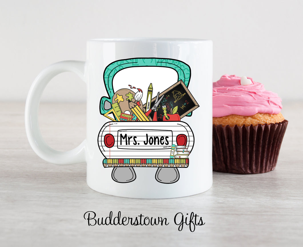 Teacher Truck Mug - 3 sizes