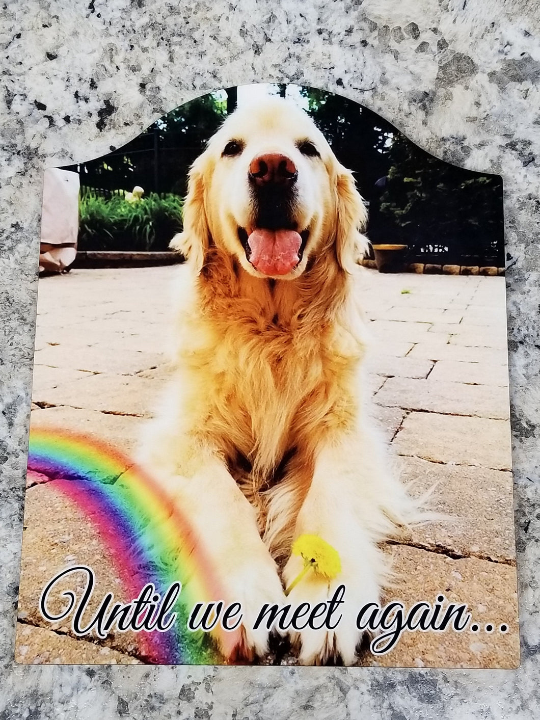 Pet Memorial Photo Frame - Arch Tabletop Frame