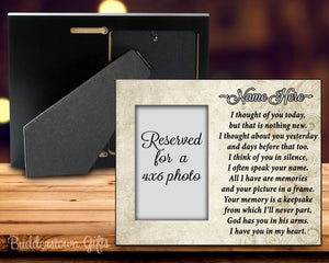 Thought of you today - remembrance, tribute, Memorial Frame, sympathy, loss of loved one