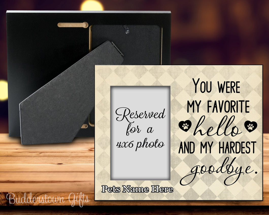 You were my Favorite Hello and my Hardest Goodbye 2nd edition - 8x10 Frame