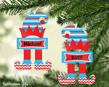 Load image into Gallery viewer, Christmas Elf Ornments!! Blue/Red