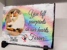 Load image into Gallery viewer, Rainbow Pet Memorial Stone Slate