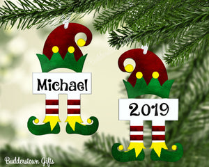 Christmas Elf Ornaments!! With Glitter Effect or Without - Free Shipping