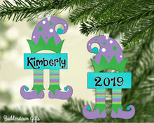 Load image into Gallery viewer, Christmas Elf Ornaments Purple/Green  - Free Shipping