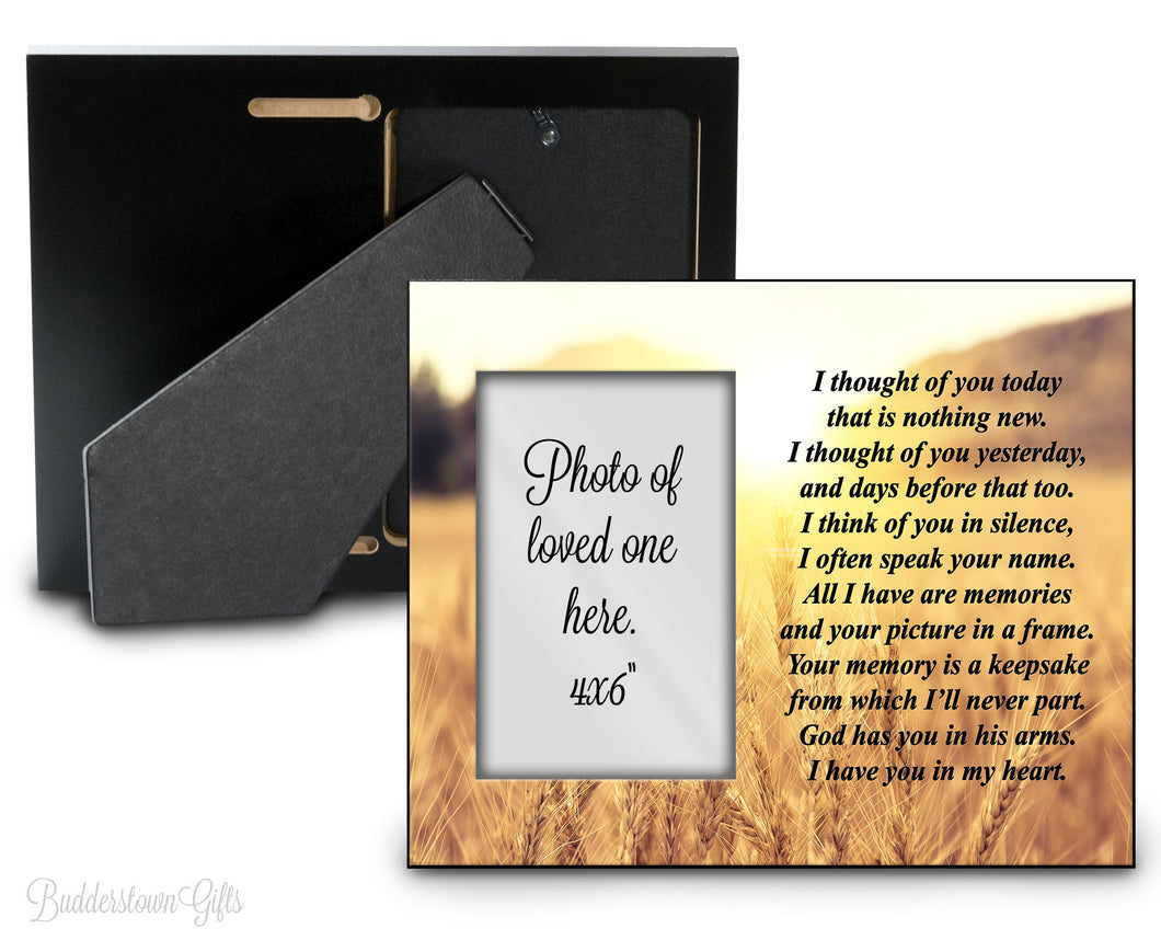 Thought of you today - Vers. 3 - remembrance, tribute, Memorial Frame, sympathy, loss of loved one
