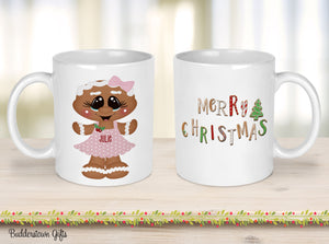 Girl or Boy Gingerbread Mugs -  Gingerbread mugs, Christmas - Coffee Cup - Kids Christmas Cups
