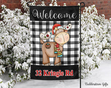 Load image into Gallery viewer, Mister Moose - 12x18 - Garden Flag - Single Sided - Free Shipping! - winter garden flag