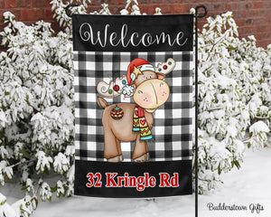 Mister Moose - 12x18 - Garden Flag - Single Sided - Free Shipping! - winter garden flag