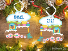 Load image into Gallery viewer, Gingerbread Train Ornament - Boy or Girl - Free Shipping