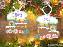 Load image into Gallery viewer, Gingerbread Train Ornament - Girl or Boy - Free Shipping