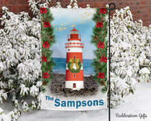 Load image into Gallery viewer, Winter Lighthouse - 12x18 - Garden Flag - Single Sided - Free Shipping! - winter garden flag