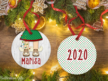 Load image into Gallery viewer, Moose Slippers Ornament for boy/girl 2020, Free Shipping - Kids, boy,  Christmas Ornament, children