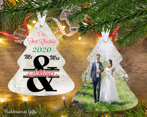 Our First Christmas as Mr & Mrs, 2020, Personalized, 1st Christmas Ornament, Free Shipping, just married