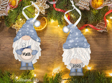 Load image into Gallery viewer, Holiday / Christmas GNOME Ornaments - 4 Colors to choose from - Free Shipping