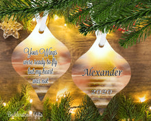 Load image into Gallery viewer, Your wings were ready to fly - heaven sands, memorial ornament - Free Shipping - Sympathy gift