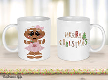 Load image into Gallery viewer, Girl or Boy Gingerbread Mugs -  Gingerbread mugs, Christmas - Coffee Cup - Kids Christmas Cups