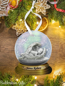 Memorial Baby Angel Snow globe Ornament  - Free Shipping