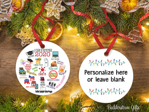2020 A Year to Remember -  2020, Free Shipping - Quarantine Ornament