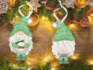Holiday / Christmas GNOME Ornaments - 4 Colors to choose from - Free Shipping