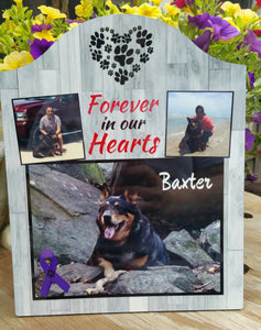 3 Photo Personalized Pet Memorial