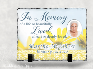 In Memory of a life so beautiful - Memorial Stone Slate