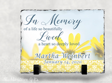 Load image into Gallery viewer, In Memory of a life so beautiful - Memorial Stone Slate