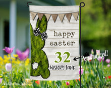 Load image into Gallery viewer, Mossy Bunny Garden Flag - Easter - Spring Flag - Free Shipping