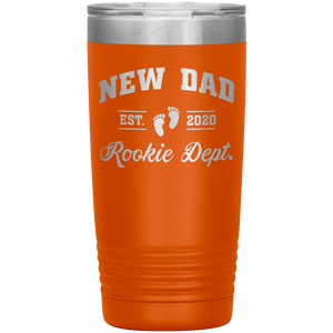New Dad Rookie Dept - 20 Ounce Vacuum Tumbler