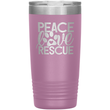 Load image into Gallery viewer, Peace Love Rescue - 20 Ounce Vacuum Tumbler