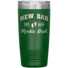 Load image into Gallery viewer, New Dad Rookie Dept - 20 Ounce Vacuum Tumbler