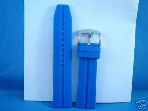 Sport band. Divers style Resin. blue 24mm mens