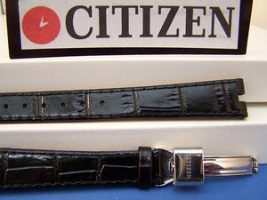Citizen watchband EP5200 EcoDrive Diamond Collection Black . Watchband