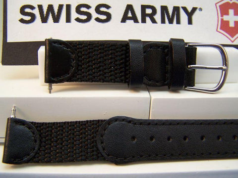 Swiss Army watchband Original 2000 ladies nylon/leather black